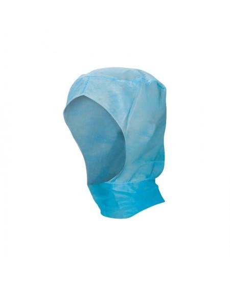 Cagoules de protection jetables Lot de 100 - Bleu